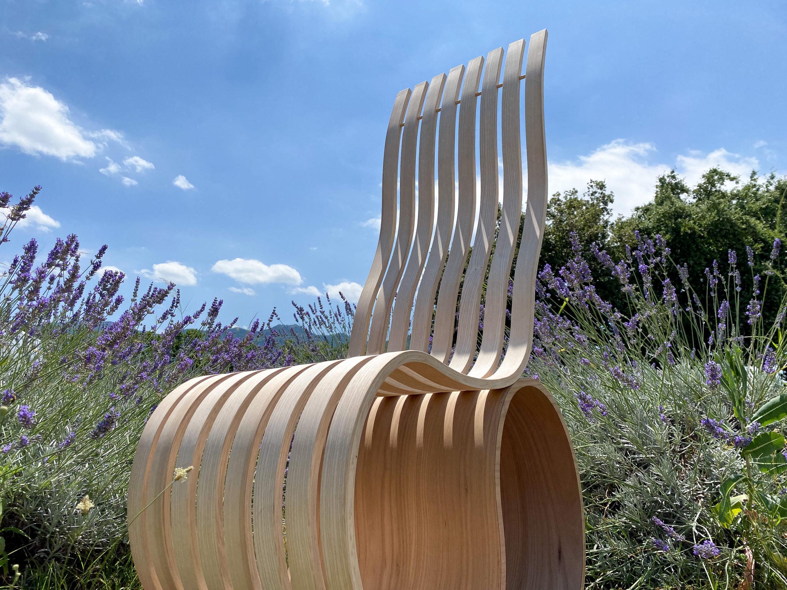 chaise slacken artisanat design ergonomique fonctionnel esthétique bois courbe